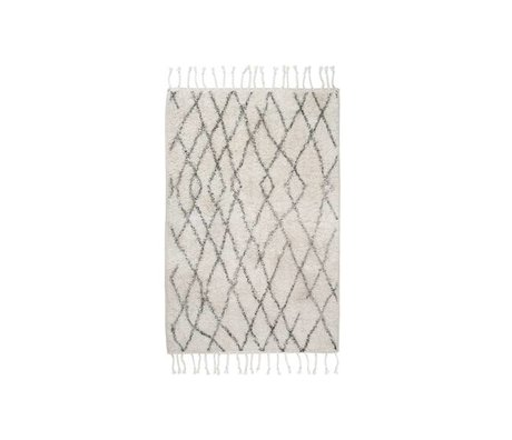 HK-living Medium checkered carpet mat 60x90cm