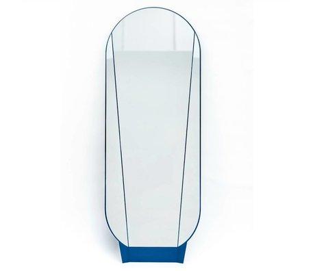 Ontwerpduo Seulement de Split Mirror Mirror verre bleu 164x61x5cm métallique