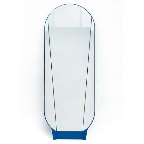 Ontwerpduo Only Split Mirror Mirror blue glass metal 164x61x5cm