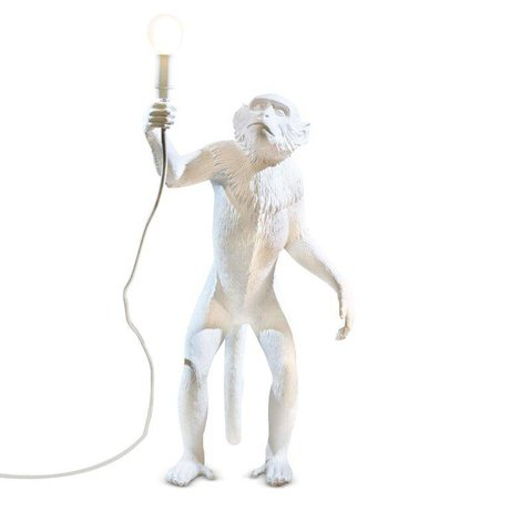 Seletti MONKEY Table lamp standing lamp Lampresin white 46x27,5xh54cm
