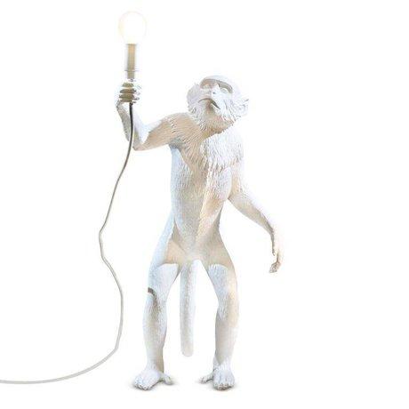 Seletti Tischlampe MONKEY, weiß, 46x27,5xh54cm