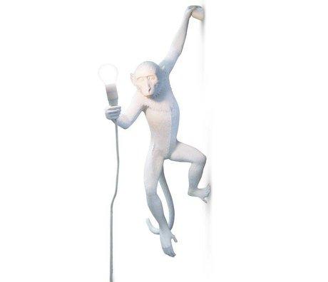 Seletti Wandlampe MONKEY, weiß, 37x20,5xh76,5cm