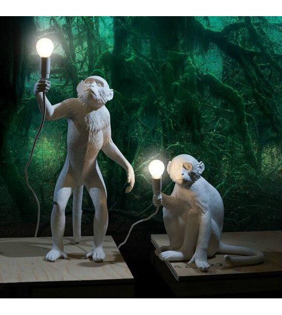 seletti lampe de monkey lampe de table assis lampresin 34x30xh32cm blanc. Black Bedroom Furniture Sets. Home Design Ideas