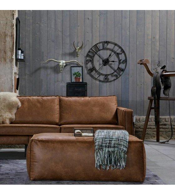 Pouf Rodeo cognac pelle marrone 43x120x60cm - lefliving.com