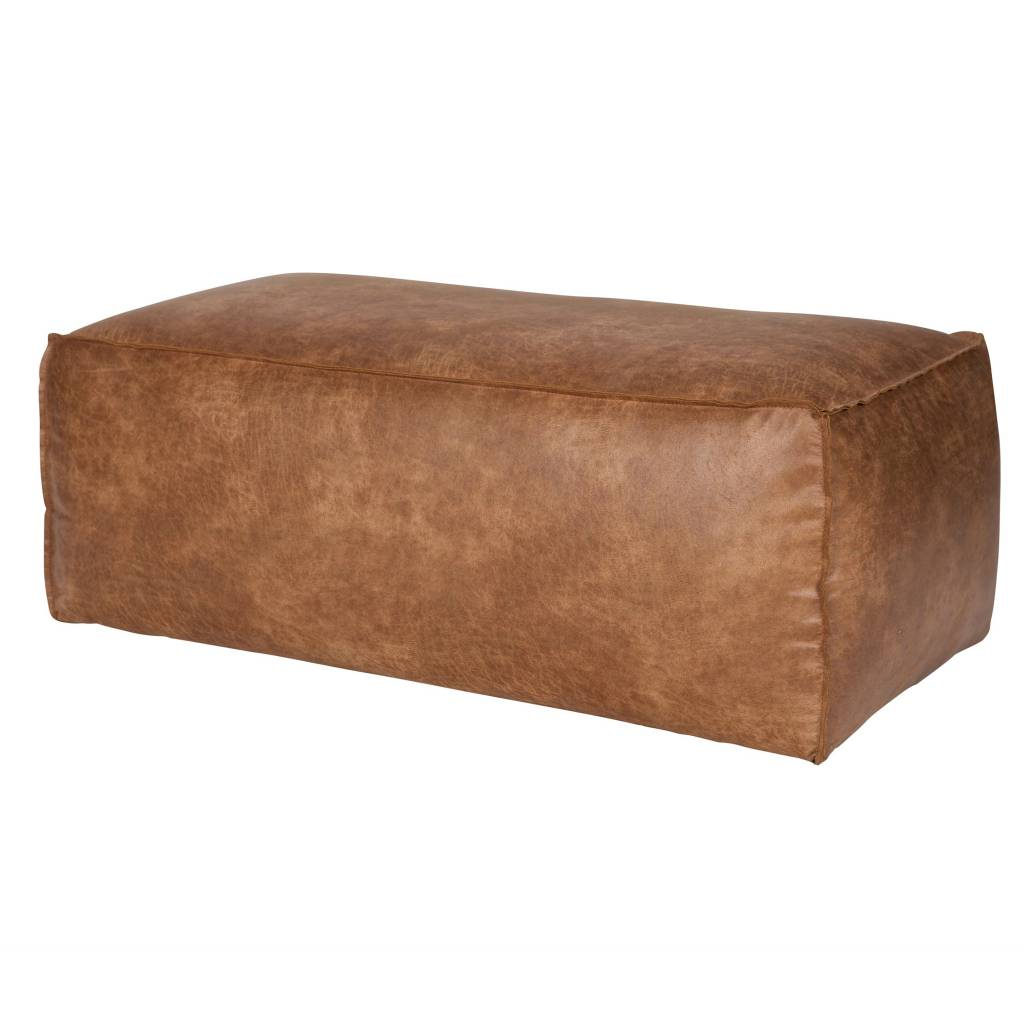 bepurehome pouf rodeo cognac brown leather 43x120x60cm. Black Bedroom Furniture Sets. Home Design Ideas