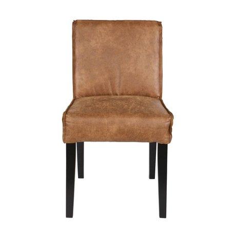 BePureHome Eetkamerstoel Rodeo cognac cuir marron bois noir 83x45x61cm