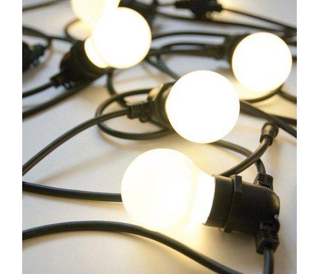 Seletti 10 Lightbulbs siyah kauçuk L14,2m Işık zincir