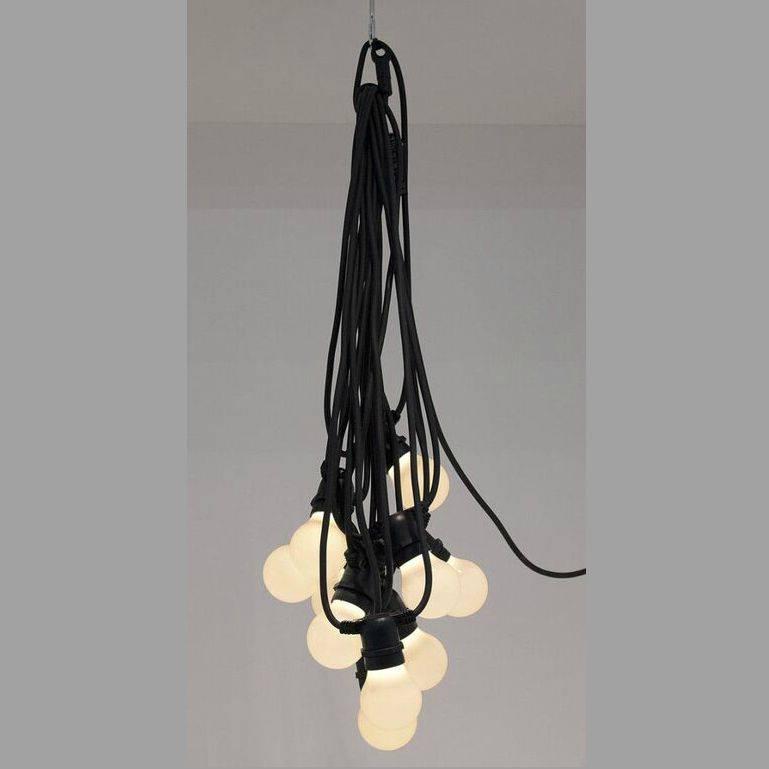 seletti lichterkette mit 10 gl hbirnen schwarz l14 2m. Black Bedroom Furniture Sets. Home Design Ideas