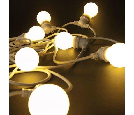 Seletti 10 Lightbulbs beyaz lastik L14,2m Işık zincir