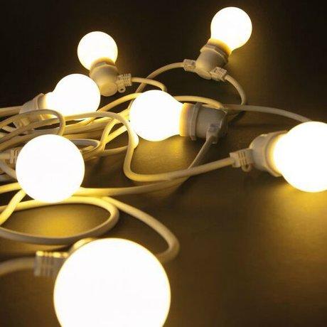 Seletti Cadena de luz con 10 bombillas blanco L14,2m caucho