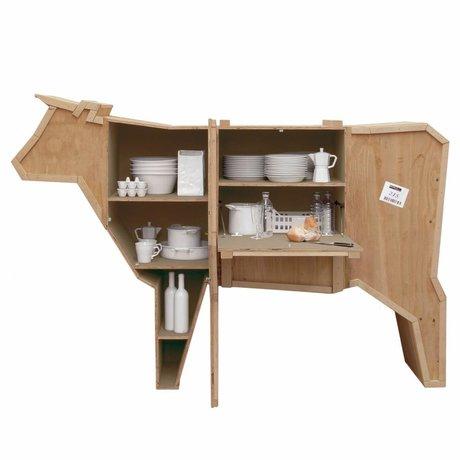 Seletti Schrank Sending Animals KUH aus Altholz, 225x58xh151cm