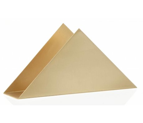 Ferm Living Porte-serviettes `TRIANGLE BRASS STAND 'laiton, 17x8.5x4.5cm