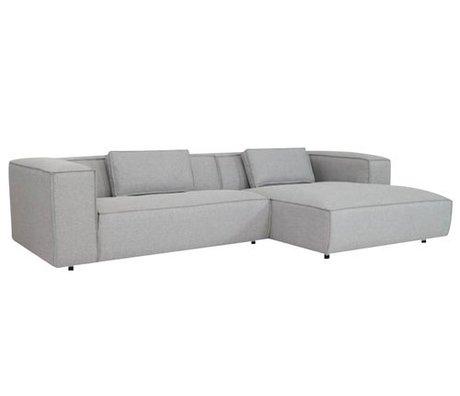 FEST Amsterdam Couch `Dunbar', Sydney91 hellgrau , 2-Sitzer/Divan links oder rechts