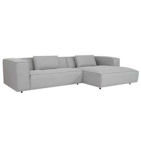 FEST Amsterdam Couch `Dunbar ', Sydney91 light gray, 2-seater / Divan left or right