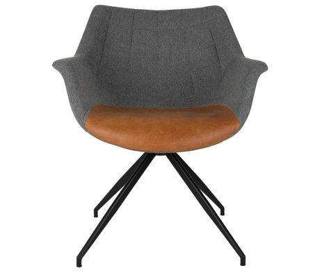 Zuiver Chaise Doulton Vintage 67x61x80cm gris brun