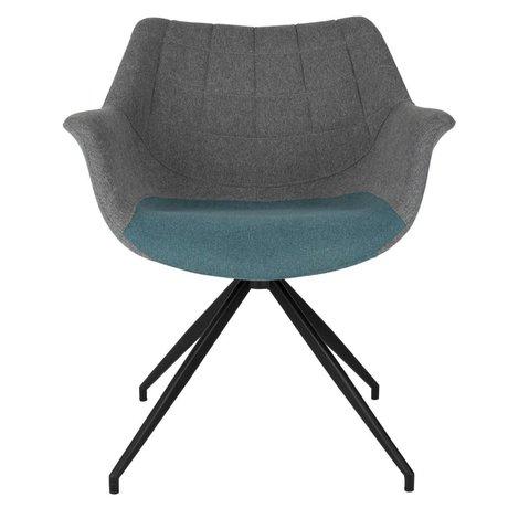 Zuiver Yemek sandalyesi Doulton Vintage mavi 67x61x80cm