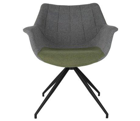 Zuiver Yemek sandalyesi Doulton Vintage yeşil 67x61x80cm