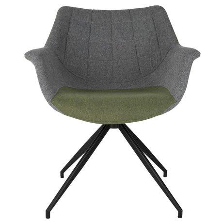 Zuiver Spisebordsstol Doulton Vintage grøn 67x61x80cm
