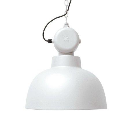 HK-living Hængende lampe Factory hvid mat metal store Ø50cm