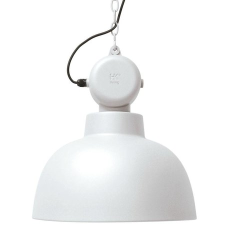 HK-living Hanging lamp Factory white matte metal large Ø50cm