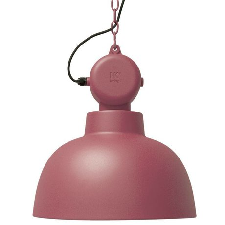 HK-living Hanging Lamp Factory marsala matte metal large Ø50cm