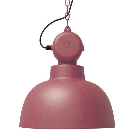 HK-living Hanging Lamp Factory marsala matte metal large Ø50cm