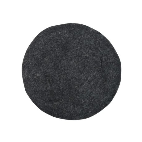HK-living Cojín Cojín de fieltro para sillas de carbón Ø35cm