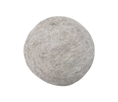 HK-living Pude Filt stolehynde grå Ø35cm