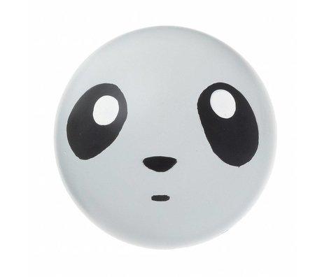 Ferm Living Hook Wall 'panda gancio' 5 centimetri di legno grigia