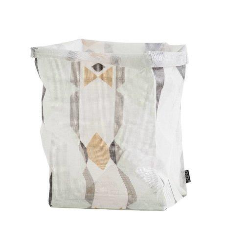 OYOY Ausbewahrungskorb 'mumbo jumbo taske' flerfarvede polyester 30x30x54cm