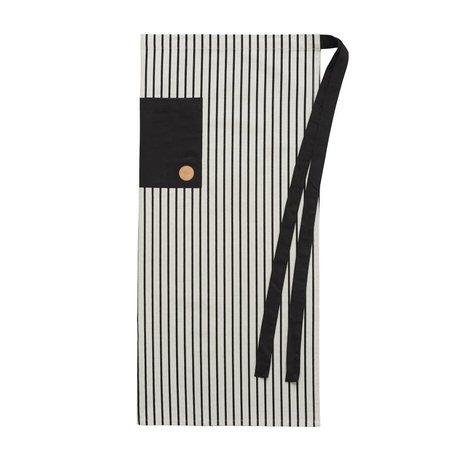 OYOY Delantal Cibo cocinero delantal de algodón negro 92x84cm