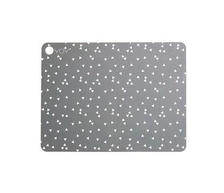 OYOY Lugar de techo gris claro gris silicona Juego de dos 45x34x0,15cm