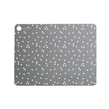 OYOY Platzdecken Light Grey grau Silikon Set bestehend aus zwei 45x34x0,15cm