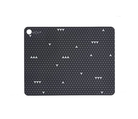 OYOY Place mats Grey Line Grey Silicone Set of two 45x34x0,15cm