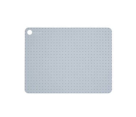 OYOY Place mats Pale gray blu Silicone Set includes two 45x34x0,15cm