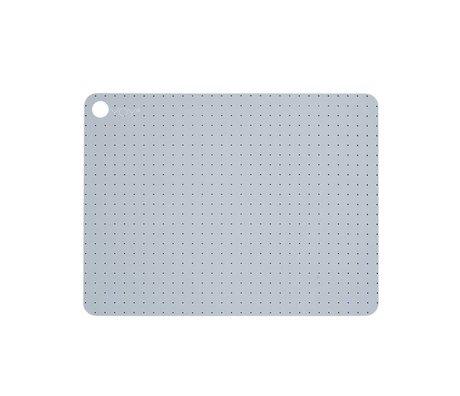 OYOY Yer paspaslar gri blu Silikon Set iki 45x34x0,15cm içerir Pale