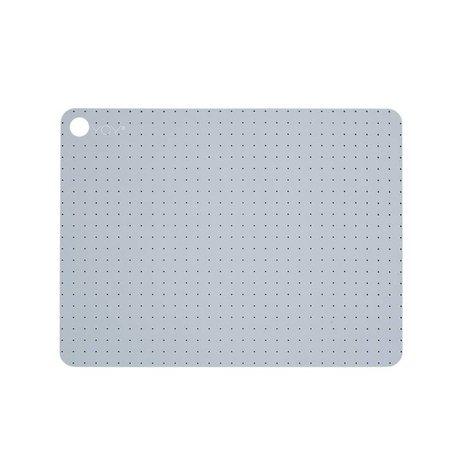 OYOY Dækkeservietter Pale grå blu silikone Sæt indeholder to 45x34x0,15cm