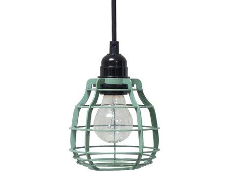 HK-living Hængende lampe Lab Army grøn med grøn metal-kontakt ø13x13x17cm