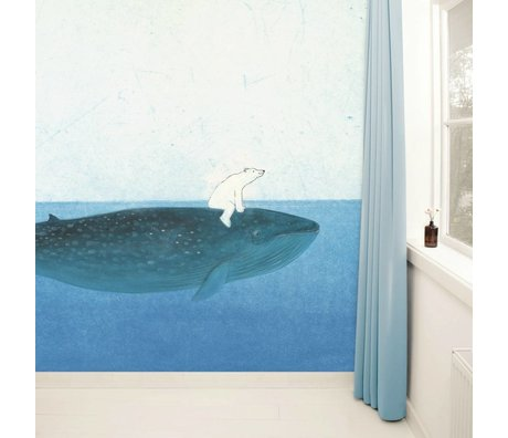 Kek Amsterdam Wallpaper Riding the Whale Multi-farvet papir fleece 389,6x280cm