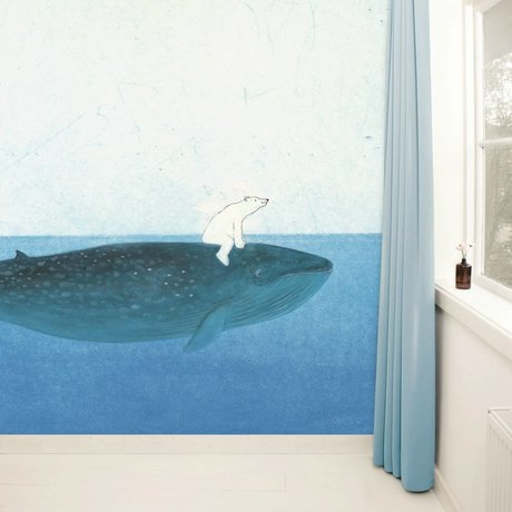 Kek Amsterdam Wallpaper Riding the Whale Multi-carta colorata pile 389,6x280cm