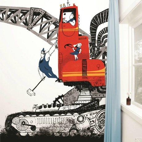 Kek Amsterdam Wrecking Topu duvar Çok renkli kağıt polar 389,6x280cm