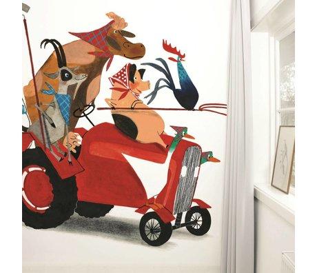 Kek Amsterdam Wallpaper Traktör Yarışı Çok renkli kağıt polar 389,6x280cm