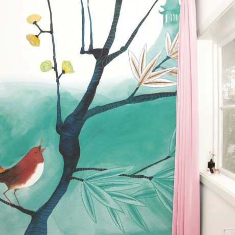Kek Amsterdam Wallpaper Singing Bird Multi Paperliners 292,2x280cm