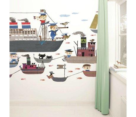 Kek Amsterdam Tapete Holland America Line mehrfarbig Papiervlies 389,6x280cm