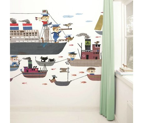 Kek Amsterdam Wallpaper Holland America Line carta multicolore vello 389,6x280cm