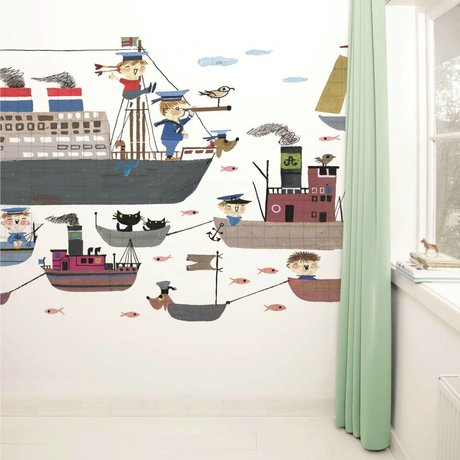 Kek Amsterdam Wallpaper Holland America Line flerfarvede papir fleece 389,6x280cm