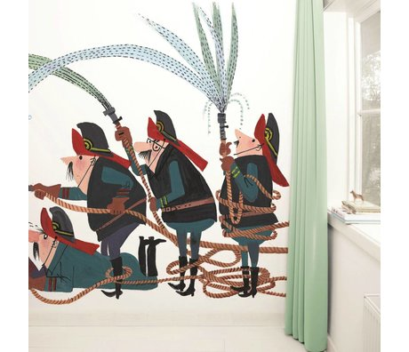 Kek Amsterdam Wallpaper Fire Brigade Multi Paperliners 389,6x280cm