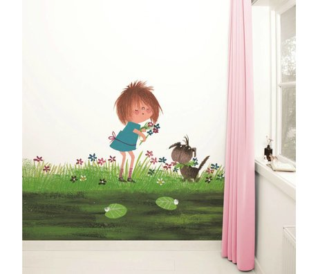 Kek Amsterdam Picking Flowers wallpaper Multi-colored paper fleece 292,2x280cm