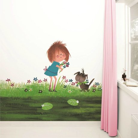 Kek Amsterdam Wallpaper Picking fiori multicolori 292,2x280cm carta pile