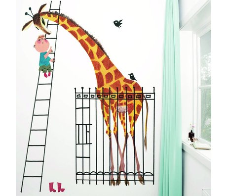 Kek Amsterdam Wallpaper Giant Giraff Multi Paperliners 243,5x280cm
